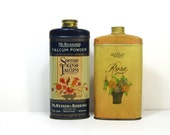 Vintage Talcum Powder Tins: 1930s Talcum Powder Tins, Art Deco, McKesson and Air Float