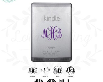 Kindle Monogram Vinyl Decal