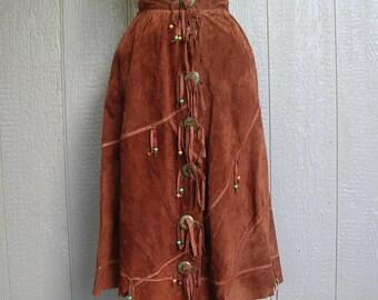 Vintage POCAHONTAS PRINCESS POWER Suede Skirt