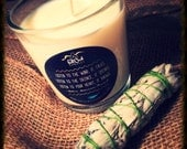 Soy Scented Candle - Beautiful 10oz Jar/Natural Wick/Native American Proverb/Pick Any Scent