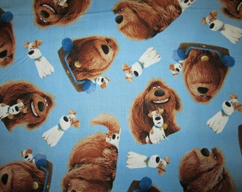 Secret Life of Pets Max Duke Blue Cotton Fabric Fat Quarter or Custom Listing