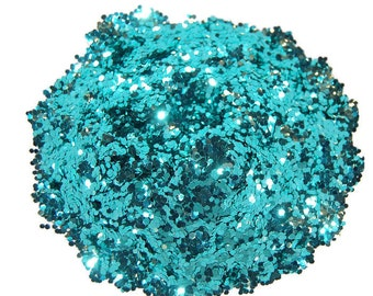 Ocean Spray SOLVENT RESISTANT Glitter 0.062 Hex - 1 Fl. Ounce for Glitter Nail Art, Glitter Nail Polish & Glitter Crafts