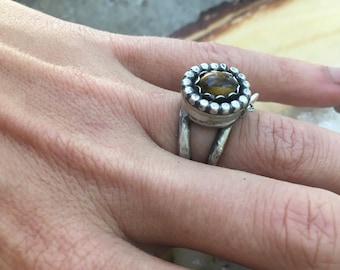 Tigers Eye Poison ring