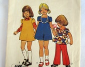 Simplicity #6870 Children's Dress and Pants Pattern, 1975