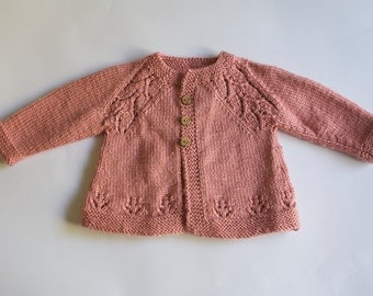 Newborn Baby Sweater, Pink Baby Sweater, Girl's Baby Sweater, Newborn Babies, Baby Sweater, Baby Clothes
