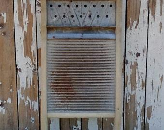 Antique Washboard, Vintage Laundry Room Decor, Primitive Scrub Board Farmhouse, Rustic Cottage