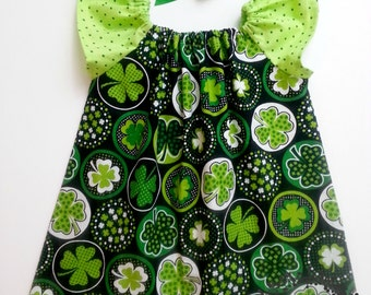 Boutique St. Patrick's Day Tunic Top - Hand Made girl's holiday clothing