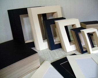 Photo & Art Framing Mats in Ivory Color Professional Grade Machine Cut Bevel Edge Framing Mats - Your Choice of 3 Sizes Available