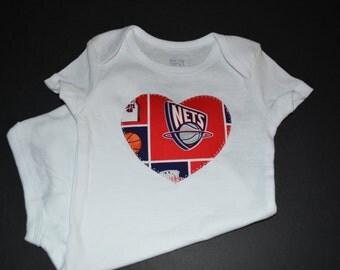 New Jersey Nets Children's Heart Bodysuit or T-Shirt