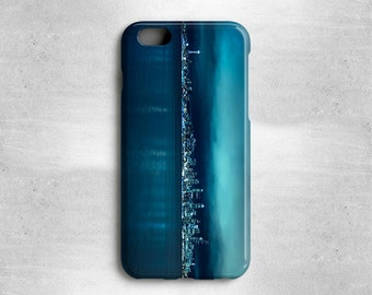 Seattle iPhone X Case Blue - Space Needle Seattle Skyline Available for iPhone 8, iPhone 7, iPhone 6S Plus, iPhone 6, iPhone 5s, iPhone 5c