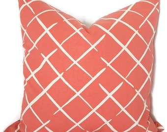 Coral Throw Pillow - Coral Decorative Pillow - Couch Pillow - Sofa Cushion - Coral Throw Pillow - Coral Lumbar Pillow - PILLOW COVER ONLY