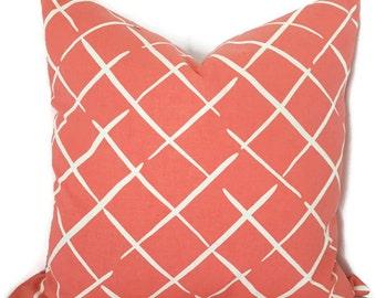 coral throw pillow coral decorative pillow couch pillow sofa cushion coral throw - Coral Decorative Pillows