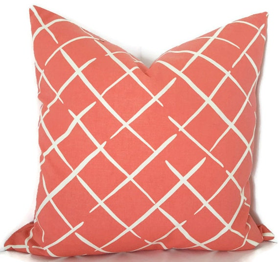 Coral Sofa Pillow: Coral Throw Pillow Coral Decorative Pillow Couch Pillow