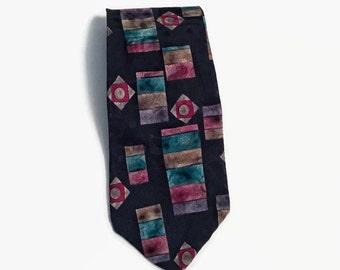 Men's Vintage Geometric Necktie, Vintage Neckties, Geometric Ties, Men's Accessories, Ties, Neckties, Vintage Geometric Neckties, Men's Ties