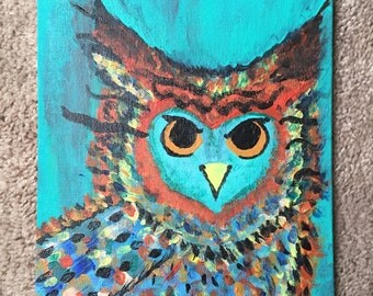 Colorful Horned Owl