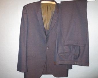 "1960's Sharkskin Suit // Hipster Suit // Vintage Sharkskin Suit // Excellent...35"" pants waist"