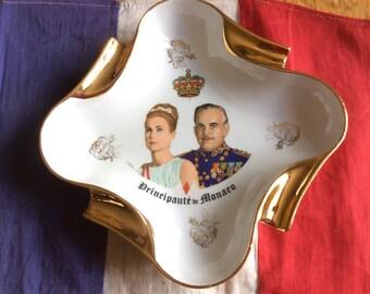 Rare French Ashtray/trinket Dish of Princess Grace And Prince Ranier of Monaco