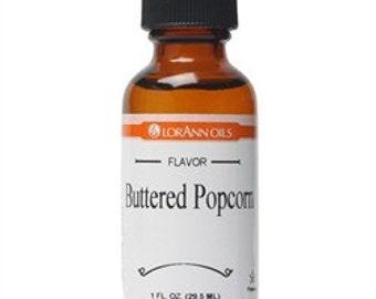 Buttered Popcorn Flavor LorAnn Hard Candy Flavoring Oil  1 oz
