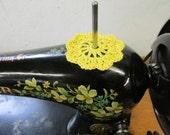 Spool Pin Doily (Golden Yellow)