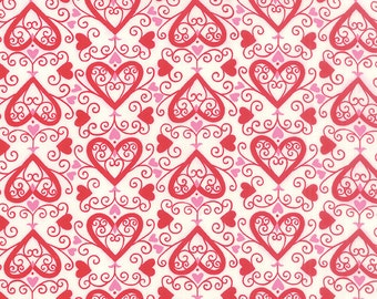 Ever After by Deb Strain - Seasonal Valentines - Ups Downs - Ivory/Red - Moda 19743 12