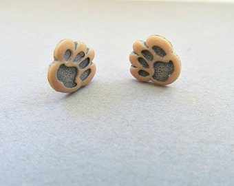 Dog Paw Stud Earrings, Puppy Love, Paws, Dog earrings