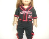 "Custom Detailed 18"" Doll Softball Baseball Miniature Uniform Set"