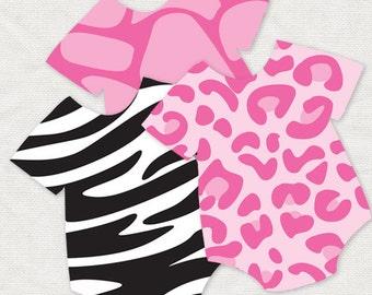 Giraffe baby shower decorations etsy for Animal print baby shower decoration ideas