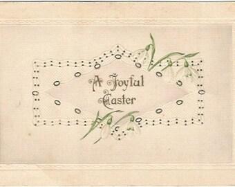 Snow Drops Vintage Postcard Easter Greeting 1911