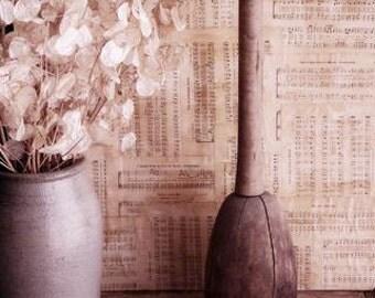Antique Wooden Stomper, Kraut Masher, Primitive Kitchen Decor