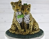 Custom Jaguar Wedding Cake Topper