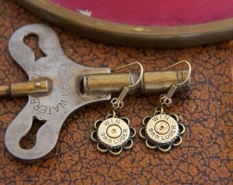 Choice 9mm Luger Bullet Earrings-Winchester 9mm Earrings-Remington 9mm Jewelry-Blazer 9mm Earrings,Speer 9mm Earrings,Federal 9mm Luger-