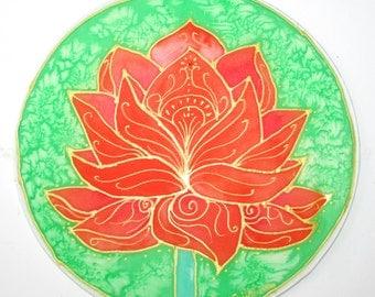 Orange lotus mandala art,spiritual gift, lotus mandala, lotus art, yoga art, spiritual art, meditation art, Goddess art, mandala,chakra, re