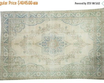 10% OFF RUGS 7x10 Distressed Oushak Carpet