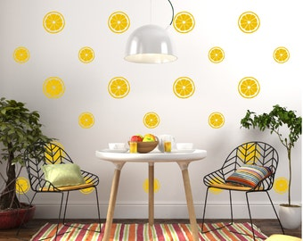 Lemon Citrus Wall Decal Pattern