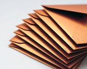 Copper Mini Envelopes, Set of 10, Blank Cards, Love Note, Enclosure Cards, Advice Cards, Gift Card, Favor Card, Alternate Guestbook