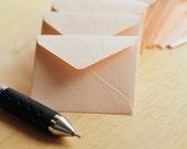 Tiny Love Notes // Soft Coral // Set of 10 // Metallic Finish // Blank Cards // Decoration // Embellishment // Wedding Decoration