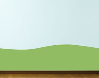 Green Hill Wall Decal - Backdrop Sticker