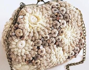 "Handbags ""Ariana"" crochet gold"