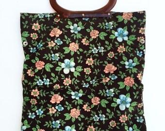 Vintage Floral Tote