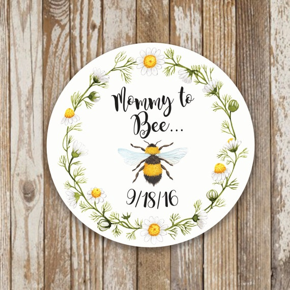 Mommy To Bee Baby Shower Stickers Thank You Favor Labels Favors From Nuesi On Etsy