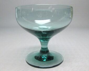 Russel Wright glass American Modern , Morgantown , one wine glass in seafoam