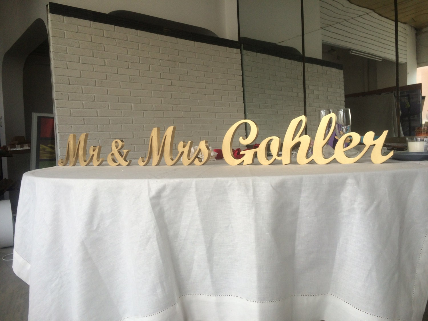 Custom Name Sign Top Table Sign For Wedding Mr And Mrs Family