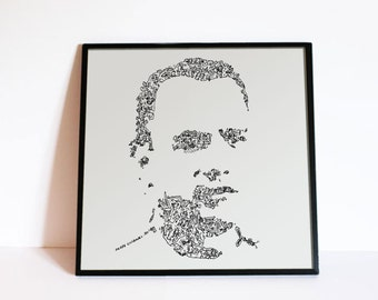 Forrest Gump - Tom Hanks - Comics doodle portrait - Movie Wall Art - Ltd edition of 100 - fine art print inspired by the movie