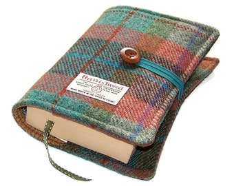Book Cover Harris Tweed, Autumn Days, UK Seller, Bible Cover, Journal Cover, Made in Britain, Suitable for Hardback or Paperback