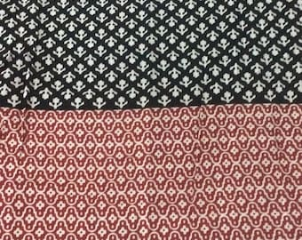 15% off 1 Meter  indian  Cotton  fabric in black,white and red