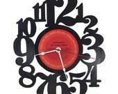 Handmade Vinyl Record Wall Clock Hanging Clock  (artist is Aerosmith)