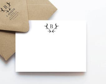 Antoillier Note Cards, Personalized Stationery