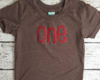 simple birthday shirt, birthday Tee, first birthday shirt, boy's birthday tee, red, birthday decor,  Organic Shirt, created for any birthday