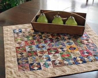 Scrappy Square in a Square Table Topper