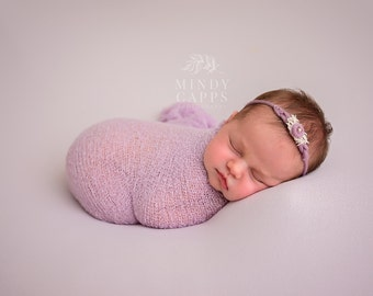 Newborn Headband, Tieback headband, Newborn photo prop, Baby photo prop, Newborn halo, Baby headband, baby photo prop